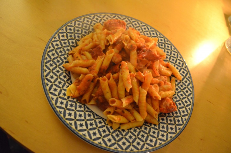 Garganelli with Lobster Tomato Sauce