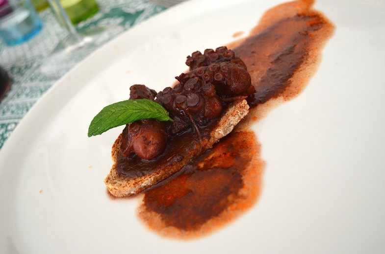 Octopus with SuperTuscan (Bolgheri) wine