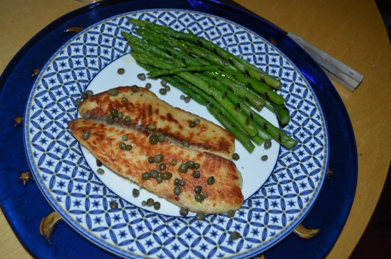 Margarita Tilapia with Truffled Asparagus